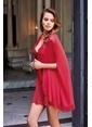 Dagi Love Pelerin Sabahlık Kırmızı
